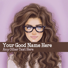 name pictures - Glasses Girl Drawing