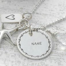 Jewelry name pictures - Nick Name Silver Pendant